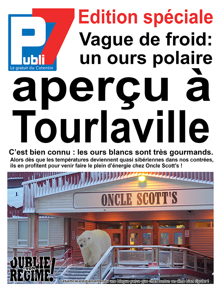 Vague de froid : Oncle Scott's en rigole !